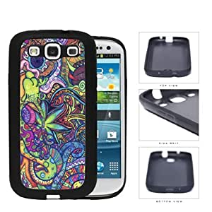 Snail Psychedelic Trippy Artwork pc Silicone pc Cell Phone Case Samsung Galaxy S3 SIII I9300