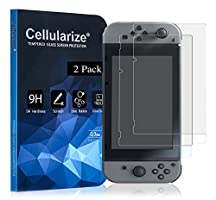 Cellularize Tempered Glass Screen Protector for Nintendo Switch [LIFETIME REPLACEMENT WARRANTY] [ANTI-SCRATCH] [BUBBLE-FREE] (2 Pack)