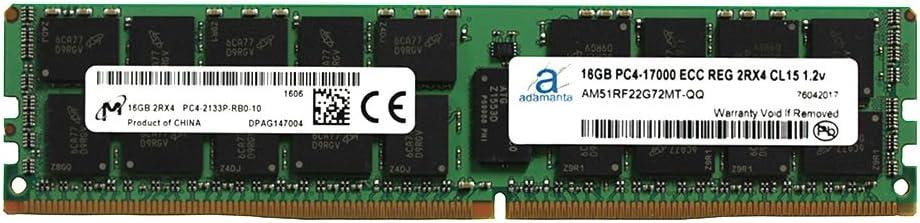 1x16GB Adamanta 16GB Server Memory Upgrade Compatible for Dell Precision 5810 DDR4 2133MHz PC4-17000 ECC Registered Chip 2Rx4 CL15 1.2v DRAM RAM