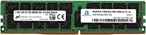 Adamanta 16GB (1x16GB) Server Memory Upgrade Compatible for HP Z840 Workstation DDR4 2133MHz PC4-17000 ECC Registered Chip 2Rx4 CL15 1.2v DRAM RAM