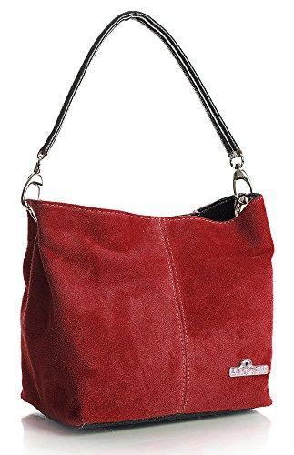 gamuza hombro LiaTalia de Obscuro mano o bolso Rojo mujer para 'Demi' tote suave cabas Pequeño hobo de SRwSBx7