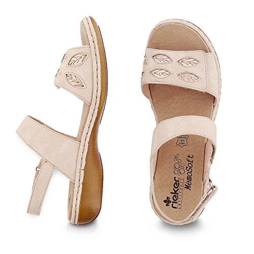 RiekerRieker Damen Sandalette - Plataforma Mujer Rosa