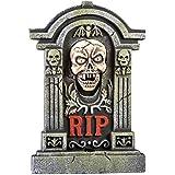 Morbid Enterprises Boneyard Howling Skull Tombstone Halloween Decor, Multi, One Size