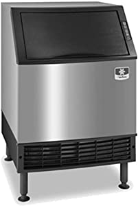 "Manitowoc UDF0140A NEO 26"" Air Cooled Undercounter Dice Cube Ice Machine with 90 lb. Bin - 115V, 135 lb"