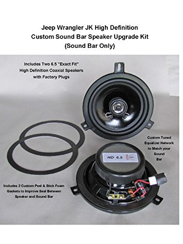 Jeep Wrangler JK Premium High Definition Sound Bar Speaker Upgrade Kit for 2015 - 2018
