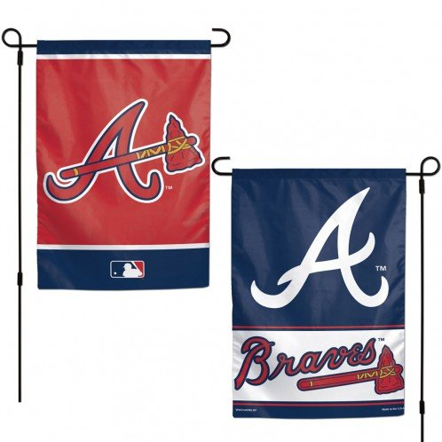 WinCraft MLB Atlanta Braves 12x18 Garden Style 2 Sided Flag, One Size, Team ()
