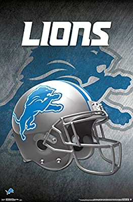 "Trends International NFL Detroit Lions - Helmet, 22.375"" x 34"", Unframed Version"