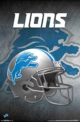 (Trends International Wall Poster Detroit Lions Helmet, 22.375