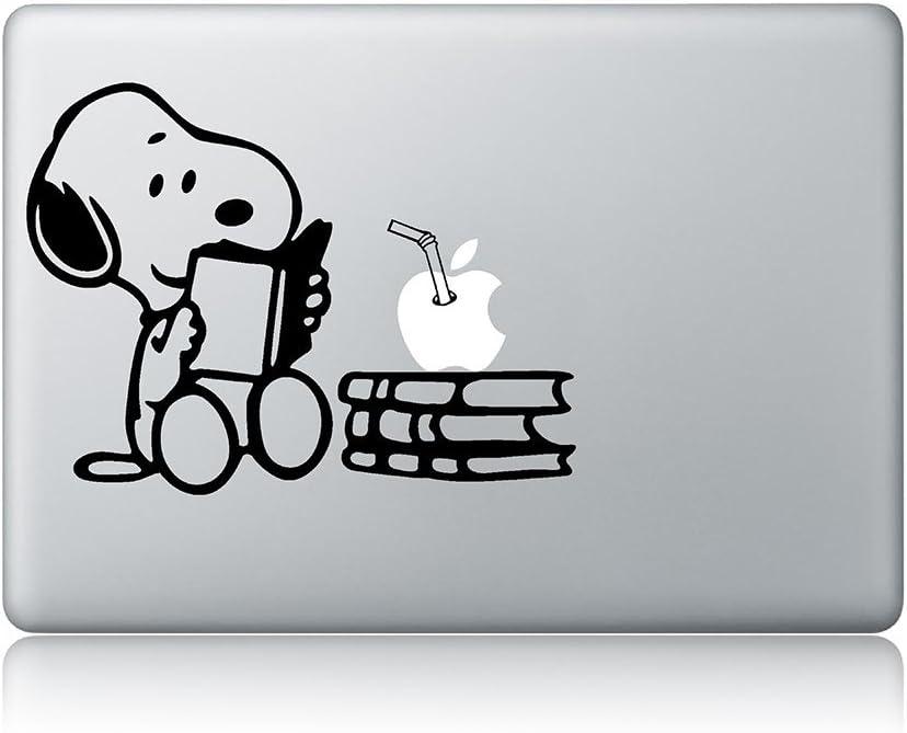 Snoopy Reading Apple Macbook Vinyl Decal Sticker Apple Mac Air Pro Laptop Sticker