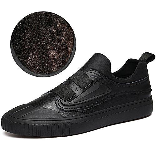 Chaussures Plates Pour Femmes En Cuir Doublé De Fourrure Pour Hommes Vilocy Chaussures Basses Pour Hommes Par Marque Gentleman Slip On Espadrilles Plates Black Fur, 42
