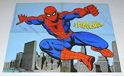 1970s Amazing Spider Man Poster Rare Vintage Original 1978 Spiderman 21 By 16