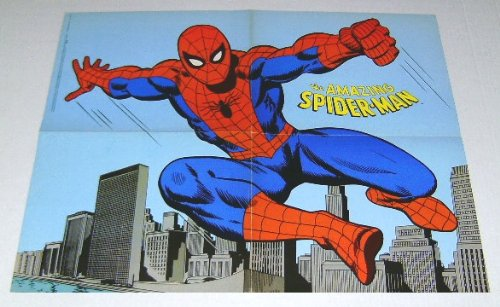 - 1970's Amazing Spider-man poster! Rare vintage original 1978 Amazing Spiderman 21 by 16 inch Marvel Comics promotional promo poster pin-up/1970s