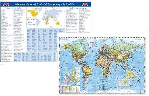 Wie sage ich es auf Englisch / Welt-/EU-Karte (engl.)