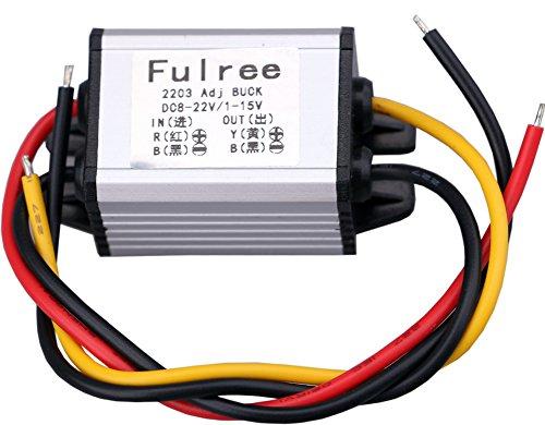 DC Buck Convertidor, Yeeco Impermeable Regulador de Voltaje 8-22V a 1-15V 5V 12V 3A Ajustable Salida Fuente de Alimentació n Transformador para el Panel Solar del LED