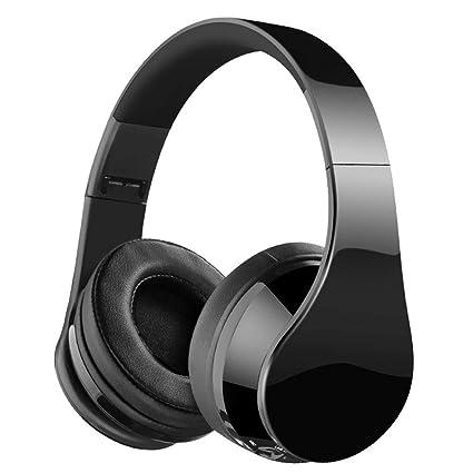 Auriculares con Bluetooth, Auriculares Inalámbricos, Música Micrófono con micrófono para juegos, Subwoofer plegable