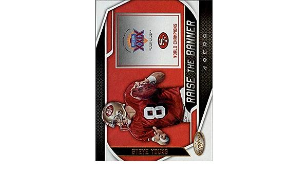 2019 Panini Certified elevar el banner #RTB Sy Steve Young de San Francisco 49ers