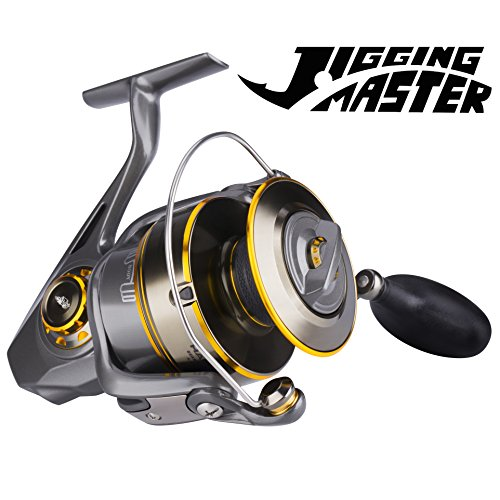 Rods Casting Kayak (HaiBo Fishing Reels Saltwater Spinning Reel Inshore Surf Casting | Ocean Deep Sea Boat Heavy-Duty Jigging Ultralight Kayak Bass Fishing Gear in Freshwater Pair an Offshore Fishing Rod Combo 8000)