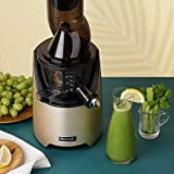 Kuvings Whole Slow Juicer EVO820CG Higher Nutrients and Vitamins, BPA-Free Components, Easy to Clean, Ultra Efficient 240W, 50RPMs, Includes Smoothie and Blank Strainer