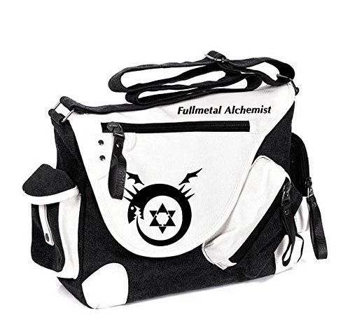 Siawasey Fullmetal Alchemist Anime Cosplay Backpack Messenger Bag Shoulder Bag - Messenger Bag Metal Alchemist Full