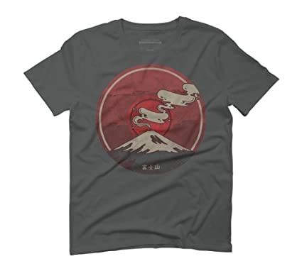 Fuji Men's Small Anthracite Graphic T-Shirt - Design By Humans