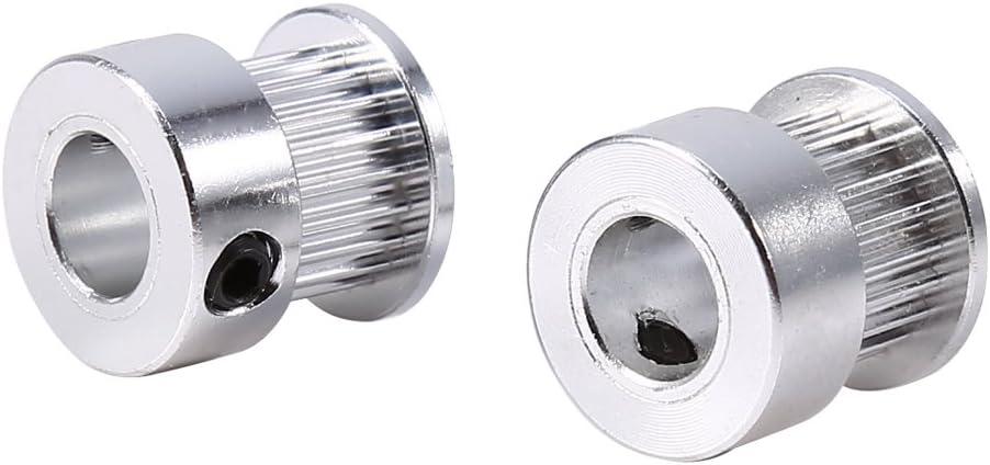 der das alte Teil ersetzt langlebig 2 St/ück 8 mm Innendurchmesser Zahnriemenscheiben Ersatzreparatur f/ür den Bau eines 3D-Druckers Riemenscheibe