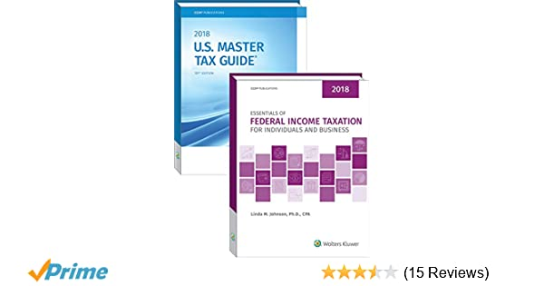 Essentials of federal income taxation for individuals and business essentials of federal income taxation for individuals and business us master tax guide book bundle 2018 cch tax law editors linda m johnson phd fandeluxe Images
