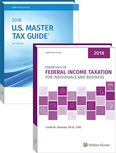 Essentials of Federal Income Taxation for Individuals and Business & U.S. Master Tax Guide Book Bundle (2018)