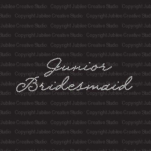 junior-bridesmaid-iron-on-rhinestone-crystal-t-shirt-transfer-by-jubilee-rhinestones