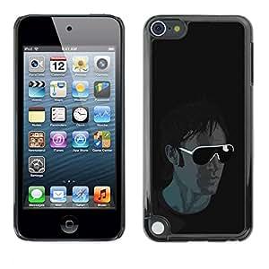 PC/Aluminum Funda Carcasa protectora para Apple iPod Touch 5 Cool Sunglasses Guy / JUSTGO PHONE PROTECTOR