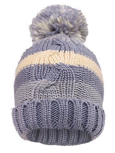 Striped Beanie Cap - Arctic Paw Kids' Super Stretch Striped Knit Beanie Cap, Grey