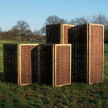Gartengruen24 - Panel separador de mimbre (con marco, 140 cm): Amazon.es: Jardín