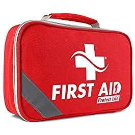 2-in-1 First Aid Kit (250 Piece) Bonus Mini 1st Aid Kit – Emergency Supplies for Home, Travel, Outdoors, Car, Camping, Workplace, Hiking & Survival