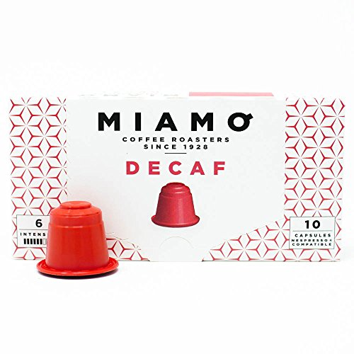 MIAMO COFFEE - DECAF - Pack of 50 Nespresso Compatible Capsules - Fit to all Nespresso Original Line Machines - Intensity 6/10 by MIAMO COFFEE