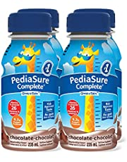 PediaSure Complete, Nutritional Supplement, 4 x 235 mL, Chocolate - Kids nutritional shake, containing DHA and vitamins that help promote healthy weight gain for kids