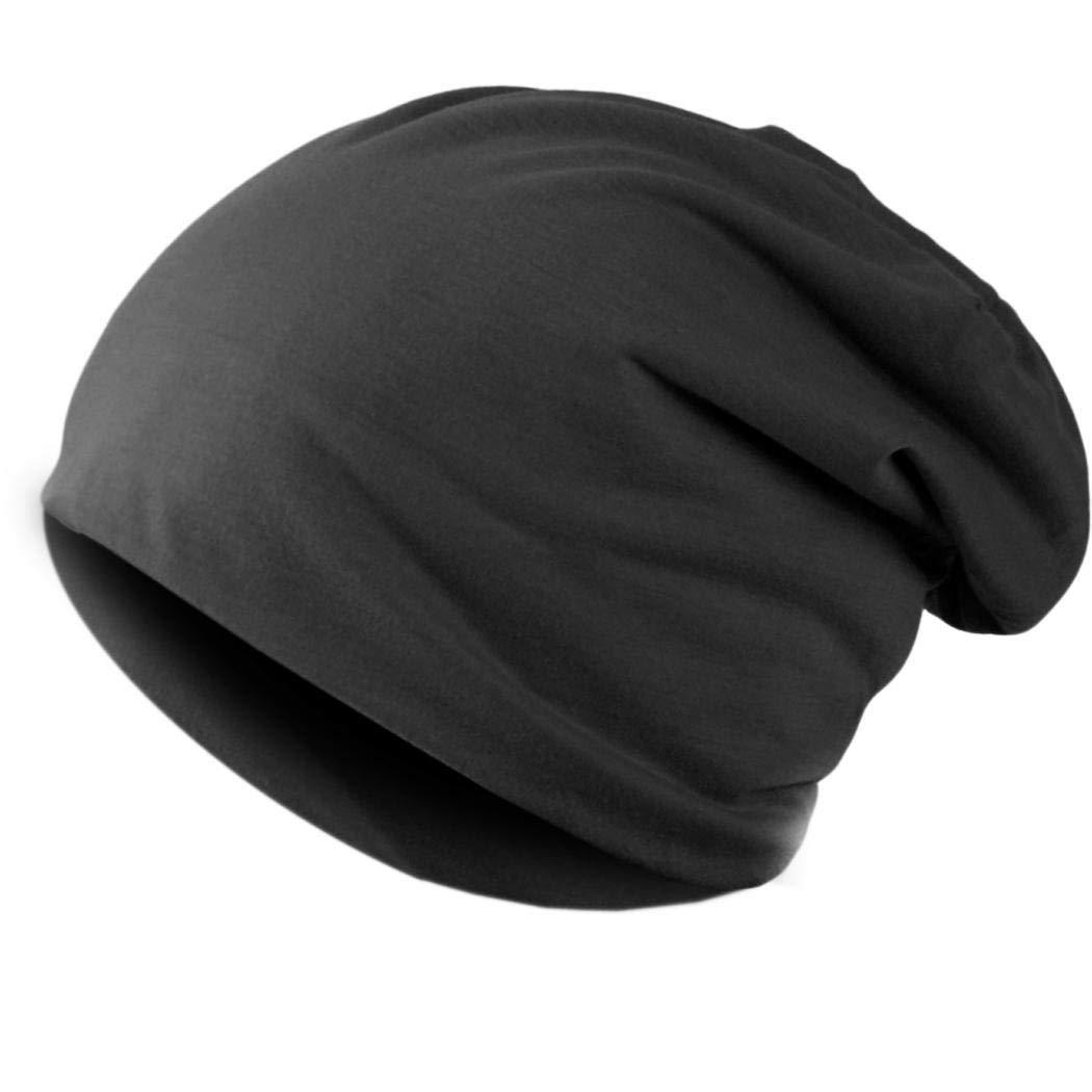 gonikm Solid Color Unisex Hip-hop Cap Beanie Hat Winter Slouch 9 Colors One Size Elastic Skullies & Beanies