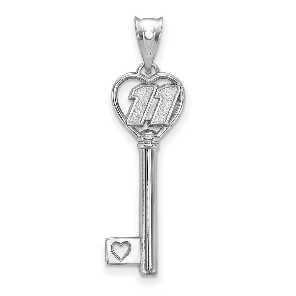 10mm x 35mm Jewel Tie 925 Sterling Silver HEART KEY 1 SMALL with DRIVER #11