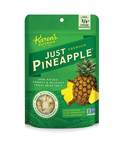 Karen's Naturals Just Tomatoes, Just Pineapple 3 Ounce Pouch (Pack of 4) (Packaging May Vary) (Crunchies Tomato Garden)
