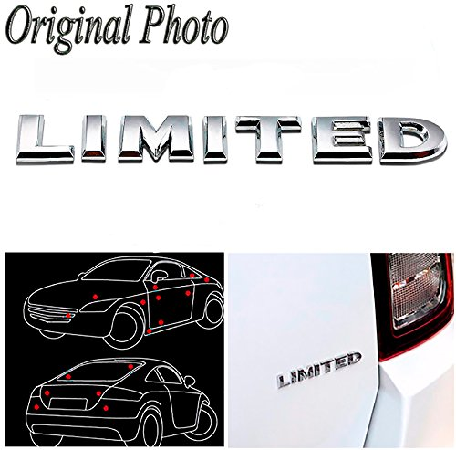 (CHAMPLED Silver Side Metal Logo Limited Benz Sign Emblem Decal Parts for Ford Chrysler Chevy Chevrolet Dodge Cadillac Jeep GMC Pontiac Hummer Lincoln Buick)