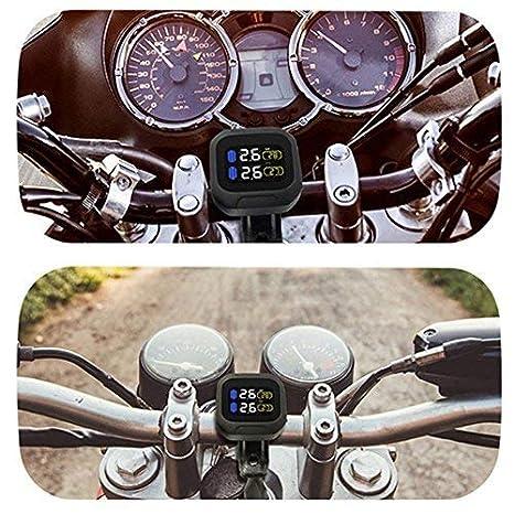 ALUNAR-TPMS Syst/ème de Surveillance de la Pression des Pneus de Moto Capteur 18x13mm
