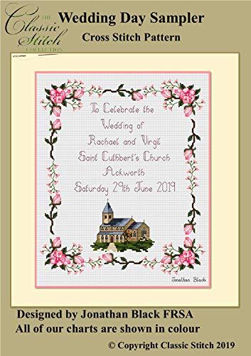 (Wedding Day Sampler Cross Stitch Pattern)