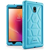 Galaxy Tab A 8.0 (2017) Case, Poetic TurtleSkin Rugged Heavy Duty Silicone Sound-Amplification Cover Case for Samsung Tab A2 S/SM-T385 /T380 / Galaxy Tab A 8.0 2017 [NOT FIT 2015 Version] Blue