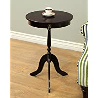 Frenchi Home Furnishing Tea/Side Occasional Table, Espresso