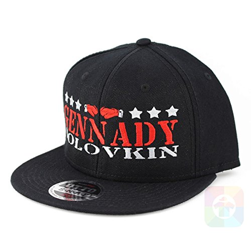 BOXING GENNADY GOLOVKIN FLAT SIX PANEL PRO STYLE SNAPBACK HAT #2034