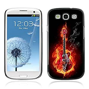 Graphic4You Flaming Electric Guitar Rock 'n' Roll Music Design Hard Case Cover for Samsung Galaxy S3 S III