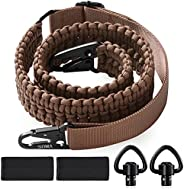 SOMA 2 Point QD Sling 550 Paracord Rifle Sling with QD Sling Swivel, Quick Attach Snap Hook Clips, Adjustable