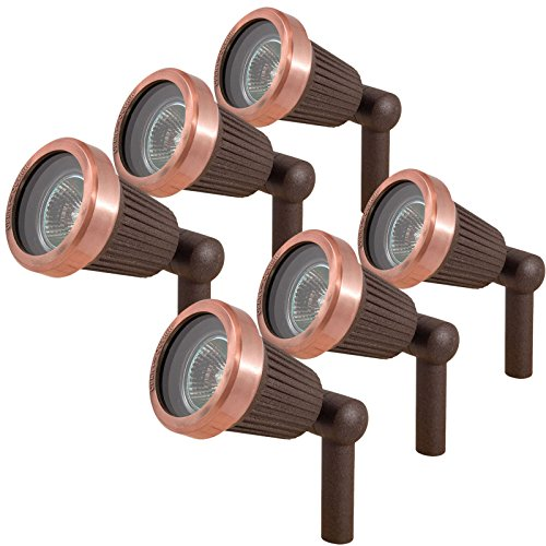 Copper Low Voltage Landscape Lighting - 8