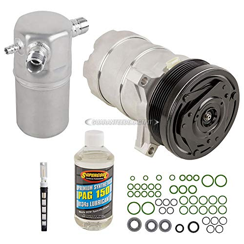 (AC Compressor w/A/C Repair Kit For Cadillac Deville 4.6L Northstar V8 1994 1995 1996 1997 1998 1999 - BuyAutoParts 60-80108RK New)