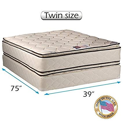 Amazoncom Coil Comfort Pillow Top Mattress And Box Spring Set