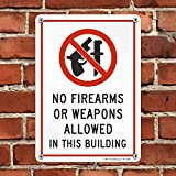 """SmartSign""""No Firearms or Weapons Allowed in This"""