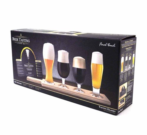 (Final Touch Glass 6 Piece Beer Tasting Set)